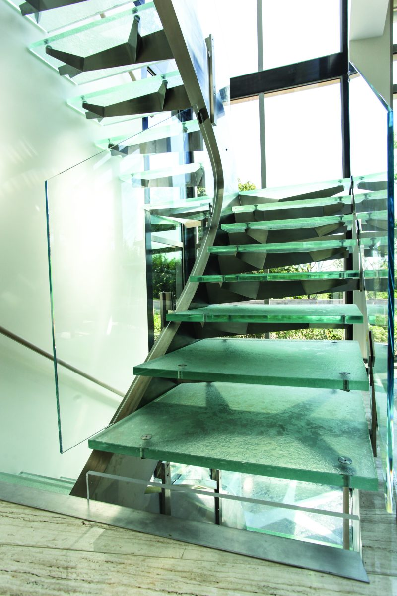 glass design interior home counters stairs