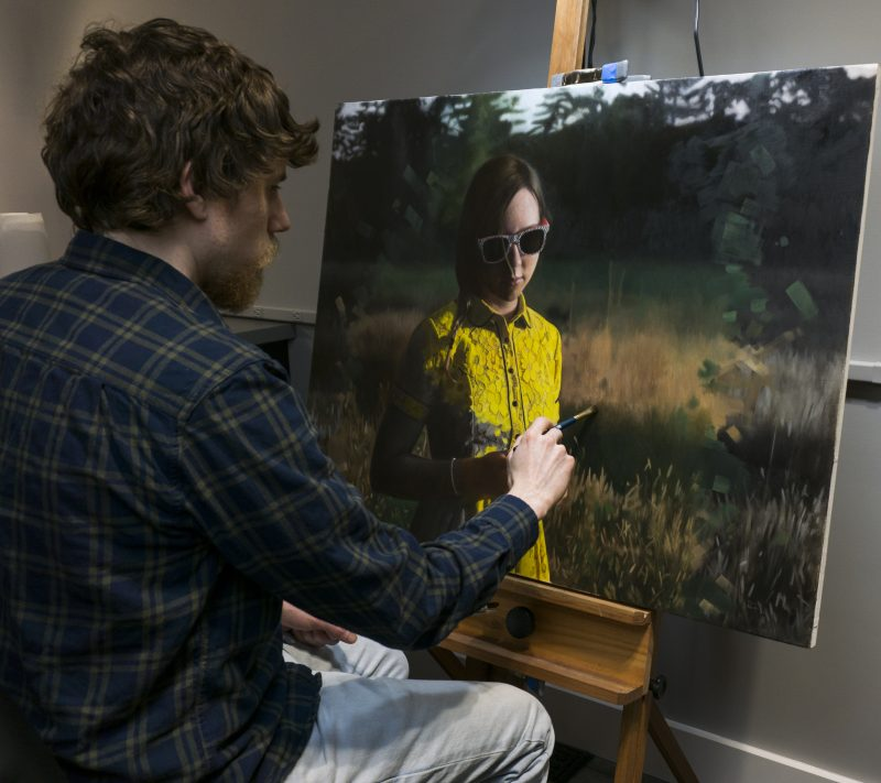 painting oil hyper realism art artist Kevin Moore painter realistic portrait