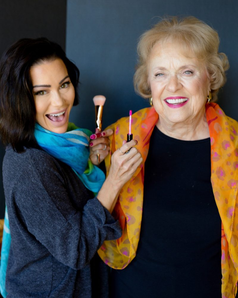 glama grandma grandmother project make up elderly fashion confidence make up artist