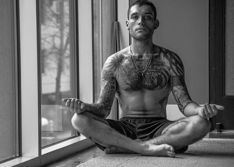 meditation man meditating therapy